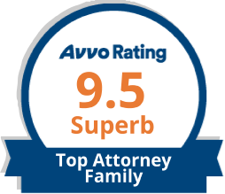 Avvo Rating 9.5 logo for Top Grand Rapids Family Law Attorney