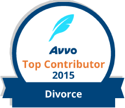 AVVO Top Contributor logo for Dedicated Grand Rapids divorce attorney