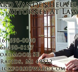 business card with attorney and business information for Grand Rapids best bankruptcy law firm