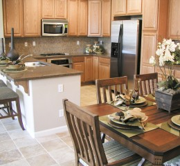 beautiful kitchen with table set near a real estate lawyer Grand Rapids