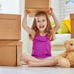 child the moving to a new home