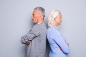 older couple disagree and are headed for divorce and if this situation sounds like your marriage contact a top divorce lawyer in Grand Rapids.