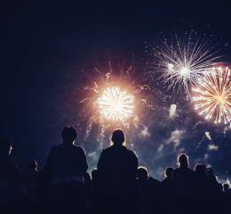 Crowd watching fireworks and celebrating at night and if you have been arrested with a DUI and need a qualified lawyer find one in Rockford.